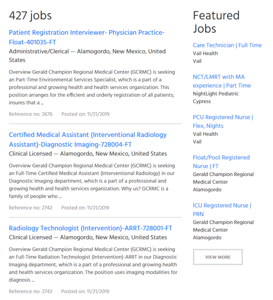 Featured Jobs on CSC